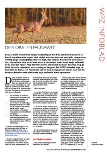 Infoblad flora en faunawet